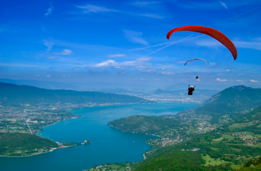Solo travel…or paragliding and sheep dung
